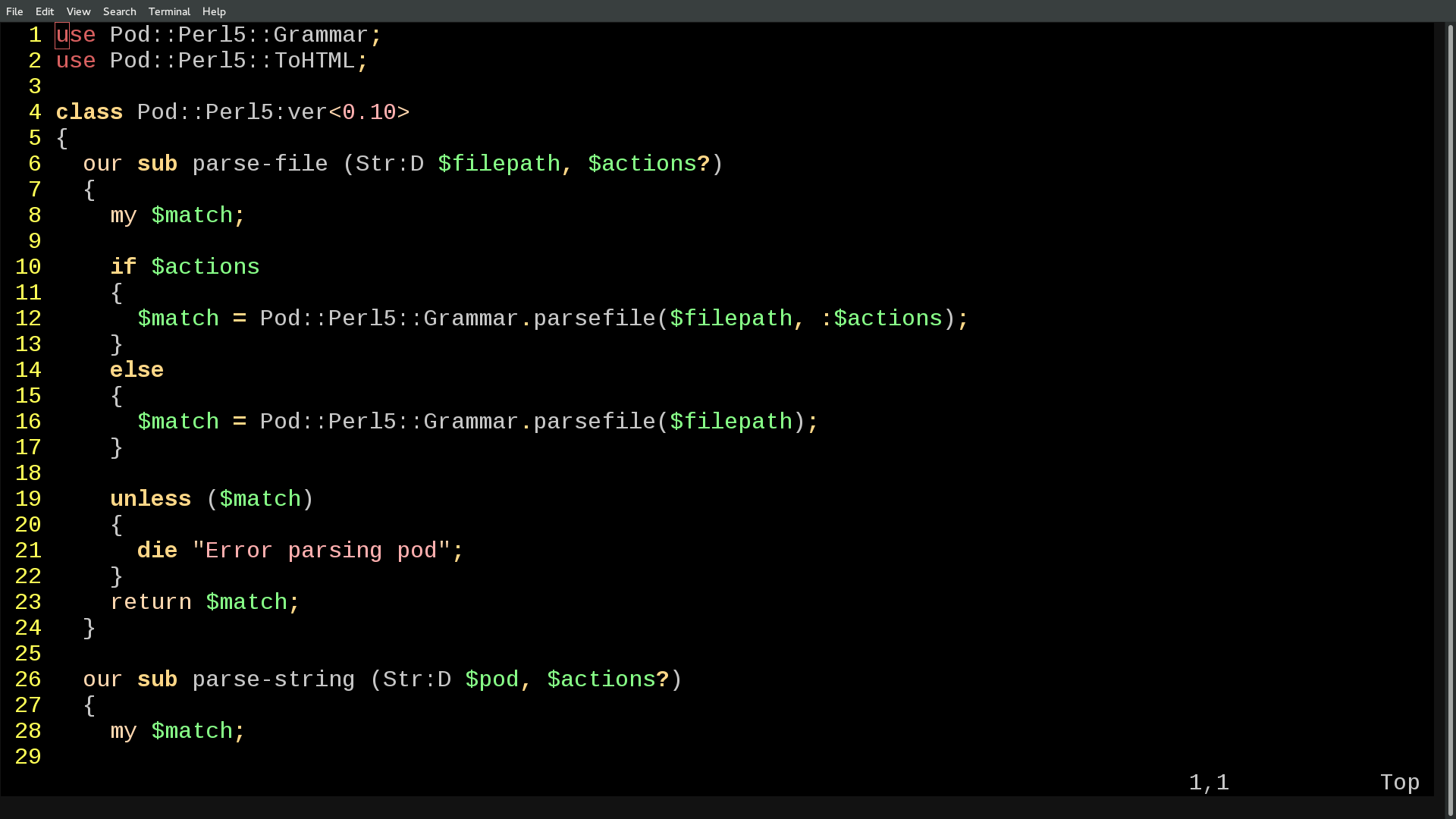 Activating Perl 6 Syntax Highlighting In Vim