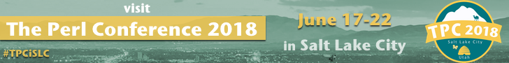 The Perl Conference Salt Lake City 2018 Banner