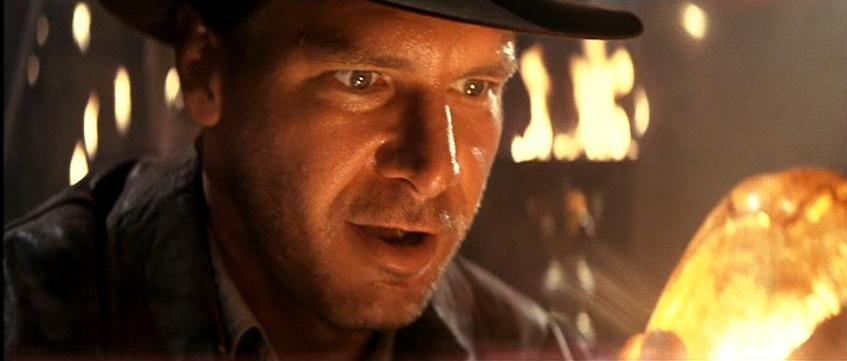 Indiana Jones discovers treasure